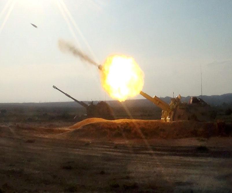 Raket və artilleriya qoşunlarının döyüş atışları icra edilib – VİDEO