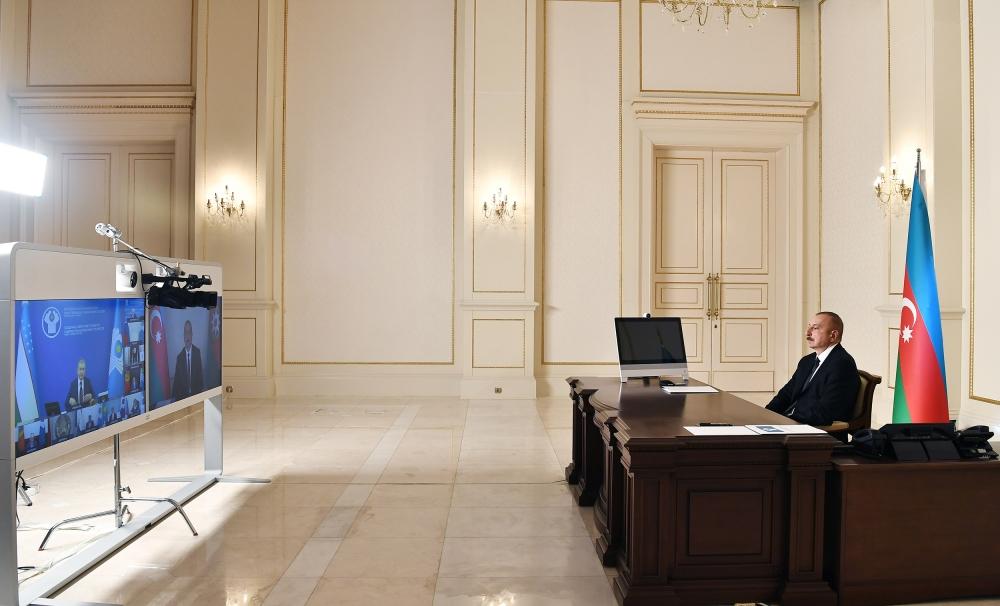Prezident İlham Əliyev MDB Dövlət Başçıları Şurasının iclasında iştirak edib